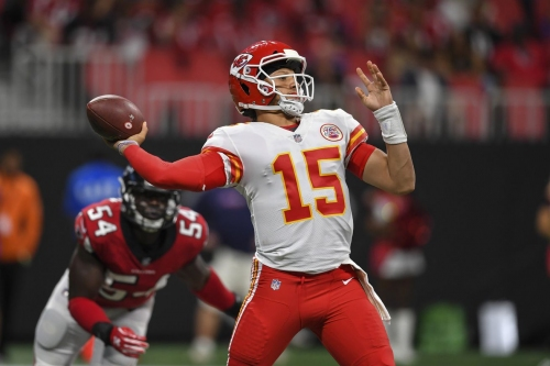 Here's what Patrick Mahomes did in his two quarters of playing time