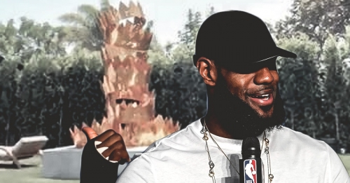 Lakers news: LeBron James' Brentwood house has a stack of crowns in his backyard