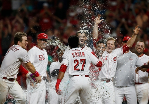 Phillip Ervin's walk-off home run gives Cincinnati Reds a 2-1 victory over the San Francisco Giants