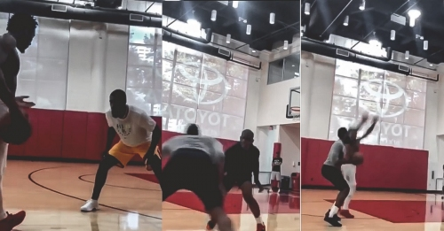 Rockets video: James Harden, Chris Paul, Jazz's Donovan Mitchell, Royce O'Neale working out together