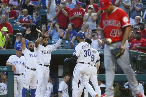 55-69 - Big inning proves to be enough for Rangers in 6-4 win over Anaheim