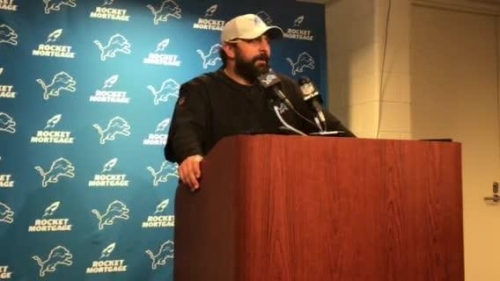 Detroit Lions coach Matt Patricia after loss to Giants: We got a lot of work to do