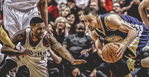 The Blazers' start to a 10-game playoff losing streak started with Steph Curry