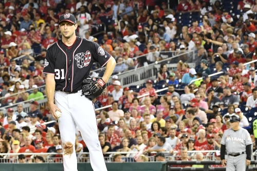 Max Scherzer unbeaten in last eight starts after earning W in Nats' 8-2 win over Marlins...