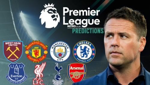 Michael Owen's Premier League predictions, including Manchester United, Chelsea & Arsenal