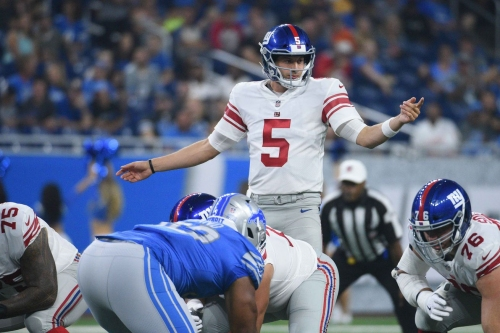 What did we learn about the Giants' offensive line against the Lions?