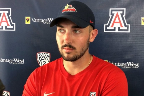 VIDEO: Arizona P Dylan Klumph on transferring from Cal, kicking in Tucson, NFL aspirations, and more