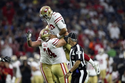 The 49ers offense was beautiful...except for those two penalties