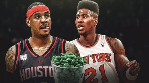 Iman Shumpert says Carmelo Anthony had him get a bowl of green skittles as a rookie