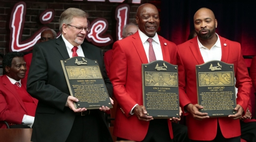 Emotional day for Cards' Hall inductees