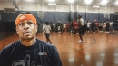 Allen Iverson makes surprise appearance at his hometown's basketball league built to create safer streets