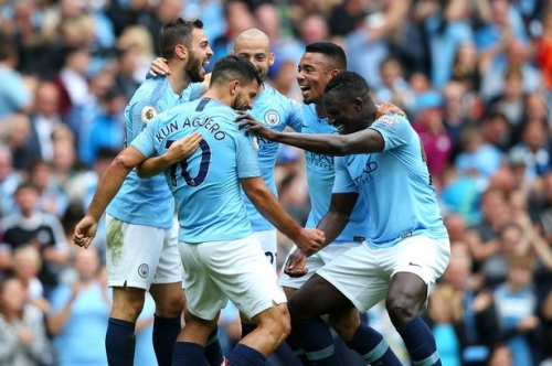 Man City 6-1 Huddersfield highlights and reaction score and goal updates Sergio Aguero nets a hat-trick