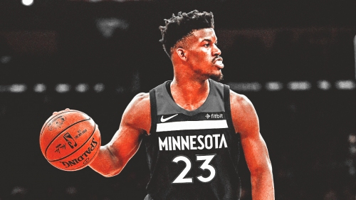 Timberwolves' Jimmy Butler pulls prank on friend doing the 'Trust Me' challenge