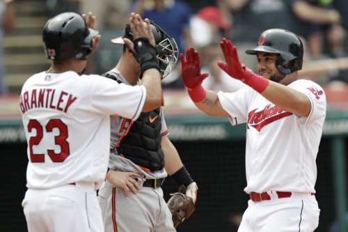 Melky Cabrera's grand slam, Mike Clevinger's solid outing lead Cleveland Indians to 8-0 win against Baltimore Orioles