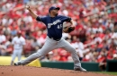 Brewers beat Cardinals 2-1, move back into tie for Wild Card spot