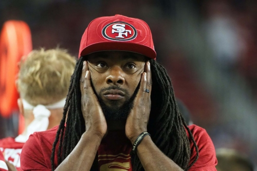 Richard Sherman voices his displeasure with the new helmet rule on Twitter
