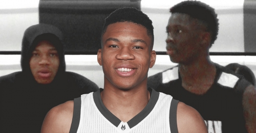 Giannis Antetokounmpo's 16-year-old brother's wingspan measured at 7-foot-2