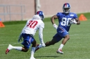 Sights and sounds of Giants' camp:Pads come back on at practice