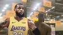 Incredible LeBron James photo in Lakers practice facility