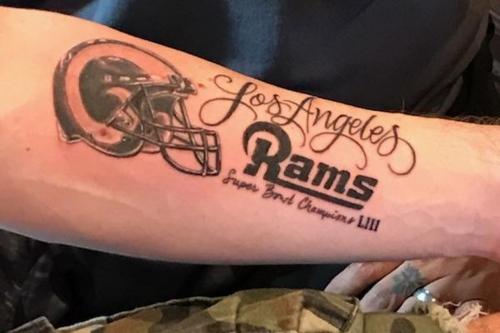 Rams fan gets SB champs tat