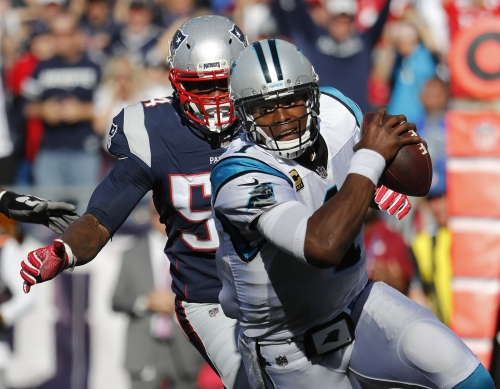 Patriots defense readying for the challenge of defending Carolina Panthers QB Cam Newton