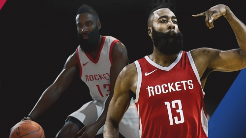 James Harden highest rated shooting guard in NBA Live 19