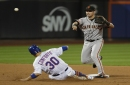 Giants collect 13-inning victory after collision leads to game-winning run