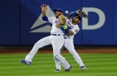 Dom Smith collides with Amed Rosario which lets winning run score in NY Mets' 2-1 loss