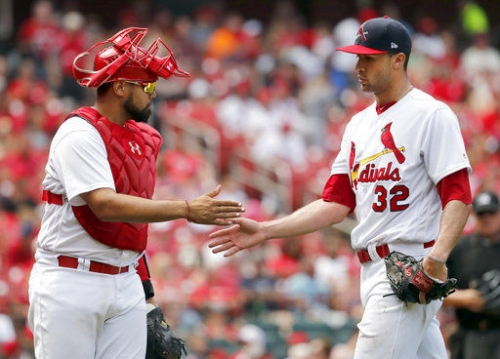After 27 consecutive starts, Molina yields to Pena's first start in a month