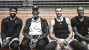 Bill Russell hangs out with Kyrie Irving, Zach LaVine, and Jamal Crawford