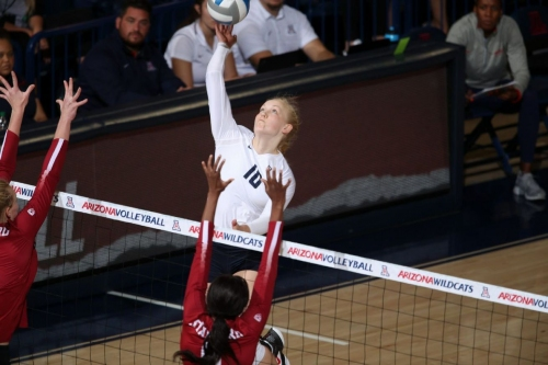 Arizona volleyball standout Paige Whipple trying to catch up after umbilical hernia