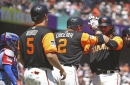 No Posey, no problem as Giants top Rangers