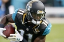Jags receiver Marqise Lee carted off field with knee injury