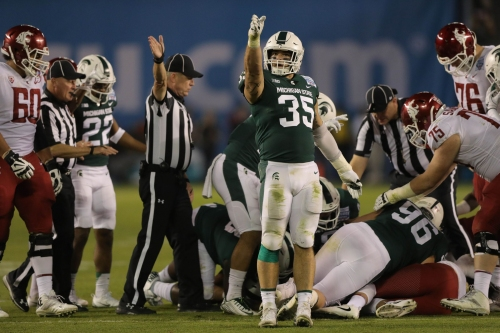 Michigan State defense, not offense, stands out to Utah State