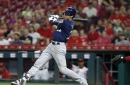 Christian Yelich cycle, 6 hit night key Brewers 13-12 ten inning win over Reds