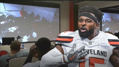 Browns video: Cleveland rookie hilariously recreates Jarvis Landry's epic 'Hard Knocks' speech