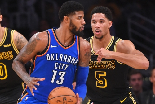 Lakers Video: Josh Hart Throws Paul George's Nike PG 1 In Trash Can