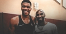 Giannis Antetokounmpo working out with Kobe Bryant