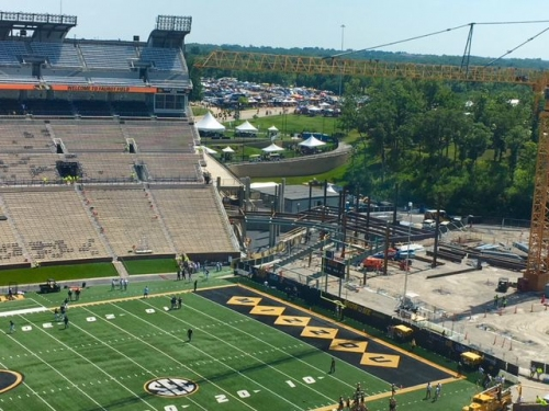 Mizzou season kicks off with stadium under construction