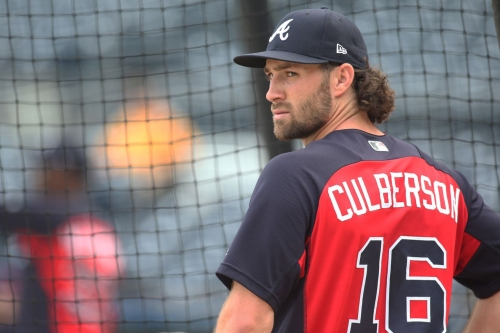 Charlie Culberson in at second for Braves on Saturday