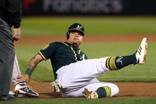A's add 8 players, designate Bruce Maxwell for assignment