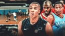 Dante Exum playing summer ball with Russell Westbrook and Chris Paul