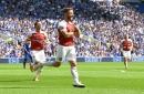 Shkodran Mustafi performs controversial celebration after scoring for Arsenal against Cardiff