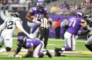 Vikings' often-maligned O-line tested regularly in practice by rugged D-line