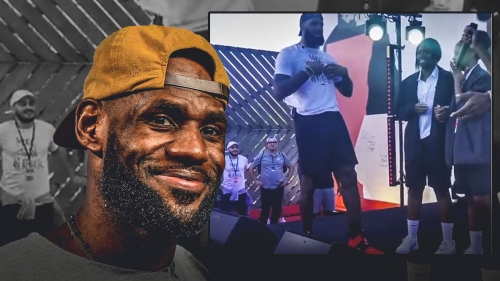 Video: LeBron James surprises overseas fans with free tickets for his return to Cleveland