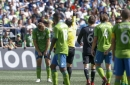 Sounders challenging Chad Marshall's red card