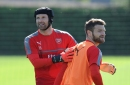 Shkodran Mustafi defends Petr Cech following another unconvincing display at Cardiff