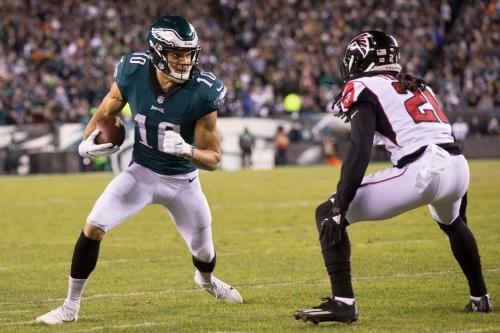 Eagles WR Mack Hollins won't play versus Atlanta, DE Michael Bennett out Tuesday