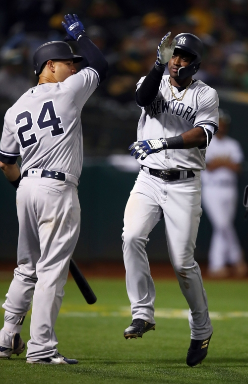 New York Yankees, Oakland A's lineups as Adeiny Hechavarria starts at SS