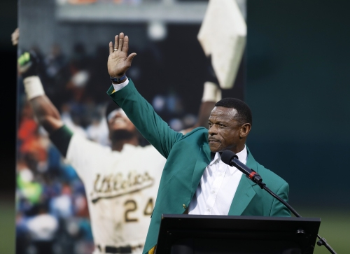 """A's honor inaugural Hall of Fame class: """"I think I got a little more emotional here than I did in Cooperstown"""""""